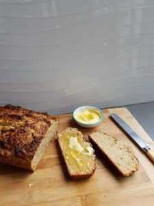 Banana Bread warm with melted butter
