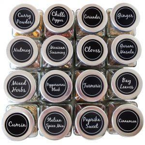 round spice jar labels